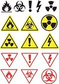 Danger,Symbol,Safety,Warning Sign,flammable,Biology,High Voltage Sign,Electricity,osha,Sign,Fire - Natural Phenomenon,alerts,Religious Icon,Nuclear Power Station,High Up,Radioactive Warning Symbol,Toxic Substance,Biohazard Symbol,Tall,Vector,Label,Heat - Temperature,Illness,Drawing - Art Product,Art,Illustrations And Vector Art,Concepts And Ideas,Ilustration