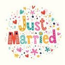 Just Married,Dedication,Symbol,Sign,Vector,Wedding Ceremony,Celebration,Greeting Card,Cartoon,Romance,Ceremony,Wife,Engraved Image,Husband,Heart Shape,Justice - Concept,Text,Retro Revival,Wishing,Engagement,Bride,Honeymoon,Congratulating,Wedding,Dating,Flower,Bridegroom,Cheerful,Smiling,Happiness,Togetherness,1940-1980 Retro-Styled Imagery,Label,Isolated,Ilustration,Women,Love,White,Married,Luck,Newlywed