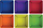Yellow,Decor,Decoration,Vector,Red,Blue,Backgrounds,sides,At The Edge Of,Multi Colored,Computer Graphic