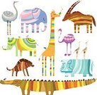 Animal,Zoo,Cute,Elephant,Child,Ilustration,Africa,Giraffe,Tropical Rainforest,Vector,Cheerful,Egret,Hyena,Crocodile,Zoology,Rhinoceros,Hippopotamus,Computer Graphic,Clip Art,Ostrich,Multi Colored,Decoration,Nature,Wildlife,Backgrounds,Mammal,Collection