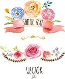 Watercolor Paints,Watercolor Painting,Flower,Vector,Plant,Set,Art,Painted Image