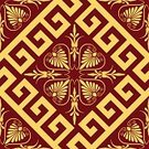 Cultures,Classical Greek,Square,Rhombus,Retro Revival,Beauty,Shiny,Classic,Design,Maze,Flower,Symmetry,Wave Pattern,Vector,Symbol,Repetition,Antique,Ilustration,Decoration,Seamless,Pattern,Backgrounds,Simplicity,Beautiful,Striped,Old-fashioned,Gold Colored,Swirl,Wealth,Ancient,Frame,Curve,Ornate,Floral Pattern