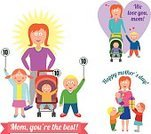 Parent,Child,Cartoon,Baby Stroller,rating,Scoreboard,Gift,Toddler,Little Girls,Winning,Single Flower,Smiling,Loving,Holiday,Vector,Family,Cheerful,Heart Shape,Happiness,Cute,Mother,Mothers Day,Holding Hands,Little Boys,Togetherness,Preschooler,Offspring,Baby,Ilustration,Celebration,Love,Son,Daughter,Side By Side