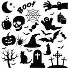 Black Color,Spider,Ghost,Trick Or Treat,Silhouette,Pumpkin,White,Sweet Food,Cemetery,Grave,Spooky,Candle,Night,Undomesticated Cat,Collection,Witch,Death,Calendar Date,Spider Web,Fear,Undead,31 october,dead tree,Bat - Animal,Holiday,Halloween,Symbol,Icon Set,Celebration Event,Potion,Human Skull,Traditional Festival,Party - Social Event,Shape,Backgrounds,Zombie,happy halloween,Set,Autumn,Moon,Horror,Isolated,Season,Cauldron