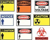 Danger,Safety,osha,Electricity,Sign,Label,Symbol,High Up,Biology,Tall,Biohazard Symbol,Winning,Vector,Fire - Natural Phenomenon,Toxic Substance,Nuclear Power Station,Radioactive Warning Symbol,Art,alerts,Clip,Heat - Temperature,flammable,Ilustration,Illness,Pencil Drawing,Illustrations And Vector Art,Concepts And Ideas