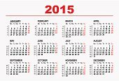 Calendar,2015,Red,Ilustration,template,Time,Plan,Calendar Date,Diary,Monthly,Year,Day,Month,Week,Vector,Personal Organizer