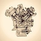 Engine,Ilustration,Blueprint,Drawing - Activity,Drawing - Art Product,Plan,Pencil Drawing,Architecture,Macro,Document,Abstract,Construction Industry,Print,Outline,inking,Design,Modern,Electric Motor,gearing,Machinery,Construction Machinery,Wheel,Old,Design Element,Graph,Gear,Sketch,Vector,Machine Part,Engineering,Industry,Concepts,Construction Frame,Close-up,Computer Graphic,Ideas
