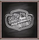 Sailor,Sign,Yacht,Yacht,mainstream,Hipster,Fashion,Design,Collection,Decoration,Clothing,Sea,Drawing - Art Product,Retro Revival,Label,Branding,Old-fashioned,Blackboard,1940-1980 Retro-Styled Imagery,Chalk Drawing,Picture Frame