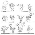Honey,Child,Little Boys,Red,Drawing - Activity,Cute,freehand,Ink,Love