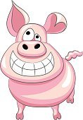 Happiness,Pig,Smiling,Smiley Face,Humor,Cheerful,Laughing,Vector,Ilustration,Cartoon,Fun,Animal,Boar Meat,Tail,Image,Piglet,Pink Color,Mammal,Standing,Snout,Farm