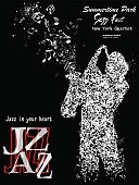 Poster,Popular Music Concert,Classical Concert,Saxophone,Jazz,Music,Brass Band,Vector,Musician,Art,Musical Note,Ink,Music Festival,Pencil Drawing,Leisure Activity,Adulation,Ilustration,Style,Invitation,Sound,hand drawing,Computer Graphic,Drawing - Art Product,Digitally Generated Image,Sketch,Acoustic Instrument,Saxophonist,Playing,Image,Musical Instrument,Performer,Hobbies,Design,Painted Image