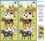Variation,Discovery,Animal,Puzzle,Leisure Games,Eyesight,Spotted,Child,Leisure Activity,Ilustration,Mystery,Vector,Animals Feeding,Milk,Farm,Rural Scene,Pasture,Education,Cow,Searching,Aspirations,Number 10
