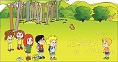 Birthday,Child,Invitation,Backgrounds,Cute,Vector,Farm,Autumn,Ilustration,Women,Front or Back Yard