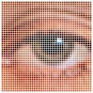 Creativity,Computer,Eyesight,Human Face,Computer Graphic,Looking,Eyeball,Vector,Ilustration,People,Abstract,Pixelated