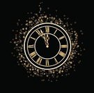 Clock,New Year's Eve,New,Midnight,Year,Old,Clock Face,Old-fashioned,Antique,Time,12 O'Clock,Chinese New Year,Magic,Gold Colored,New Year's Day,Vector,Black Color,2013,Gold,Holiday,Circle,New Year,Elegance,Backgrounds,Celebration,Number,Decoration,Single Object,Star Shape,Global Business,Number 12,Arrow Symbol,Minute Hand,Design Element,Shape,New Year's,2013 Year,Holidays And Celebrations