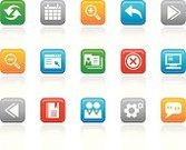 Interface Icons,Push Button,Calendar,Square Shape,Religious Icon,Symbol,Back Arrow,Computer,Green Color,Internet,Undo Key,Refreshment,Computer Icon,Icon Set,Gear,Blue,Orange Color,Bookmark,Magnifying Glass,Gray,Multi Colored,Talking,Set,Arrow Symbol,Discussion,Red,Group Of People,Speech Bubble,Illustrations And Vector Art,Objects/Equipment,Concepts And Ideas,User Group,White Background,web icon
