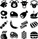 Chicken,Chicken - Bird,Fillet,Beef,Turkey,Symbol,Hot Dog,Pork,Turkey - Bird,Bacon,Cooking,Hamburger,Barbecue,Set,Veal,Lamb,Eat,Black Color,Lamb,Pig,Sausage,Ham,Skewer,Animal Egg,Rib,Sirloin Steak,Protein,Meat,Sign,Food,Steak,Isolated,Vector,Restaurant,Dinner,Chop,Eggs,Flat,Grilled,Ilustration,Burger,Cow