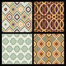 Geometric Shape,Collection,Seamless,Design Element,Computer Graphic,Ornate,Vector,Backgrounds,Style,Set,Pattern,Repetition,Abstract,Grid,Brown,Decoration,Creativity