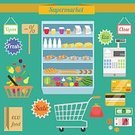Supermarket,Groceries,Flat,Ilustration,Design,Computer Icon,Icon Set,Change Purse,Bag,Symbol,Vector,Store,Vegetable,Healthy Eating,Design Element,Shelf,Fruit,Closed,Wealth,Scrapbook,Single Object,Eating,Set,Concepts,Food,Sale,Shopping Cart,Insignia,Merchandise,Currency,Open Sign,Environment,Paper Currency,Collection,Cash Register,Credit Card,Eggs,Ornate,Bread,Coin,Cheese,Freshness,Shopping,Retail