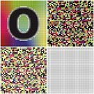 Letter O,Alphabet,Alphabetical Order,Tracery,Set,Square,Variation,Mosaic,Mystery,varicolored,Pattern,Multi Colored,irregularity,Chaos,Messy,Seamless