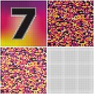 Puzzle,Number 7,Confusion,Multi Colored,irregularity,Messy,varicolored,Tracery,Textured,Square,Chaos,Pattern,Problems,Variation,Square Shape,Seamless,Set,Number,Mystery,Mosaic,Sign,Thinking