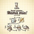 Recipe,Computer Icon,Pasta,Ingredient,Symbol,Ilustration,Flour,Poster,Internet,Insignia,Design,Concepts,Cooking,Backgrounds,Crockery,Meal,Pastry,Italian Culture,Spaghetti,Gourmet,Dough,Boiling,Vector,Drawing - Activity,Doodle,Collection,Icon Set,Web Page,Set,Ornate,Food,Organization,Technology,Design Element,Cooking Pan,Baking,Assistance,Color Image,Scrapbook,Sketch,Restaurant