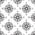 Compass,Map,Old-fashioned,Retro Revival,The Past,Adventure,Discovery,Ilustration,Nautical Vessel,Pattern,Guidance,Equipment,Sea,Cartography,Backgrounds,East,Design,Part Of,South,Vector,Shape,Seamless,Wind,Journey,Black Color,Isolated,Ancient,Travel,Obsolete,Instrument of Measurement,Antique,Single Object,Arrow Symbol,Direction,Exploration,Star Shape,Dial,Topography,Design Element,Latitude,North,Sailing,West - Direction,Longitude,Symbol