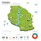 Tanzania,Infographic,Drinking Water,Design,Concepts,Computer Icon,Flat,White Background,Computer Graphic,Vector,Set,Country - Geographic Area,Recycling Symbol,Ilustration,Symbol,Sign,Abstract