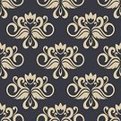 Floral Pattern,Retro Revival,Pattern,Flower,Old-fashioned,Backgrounds,Design,Vector,Elegance,Ornate,Ilustration,Blue,Textile,filigree,Decor,Decoration,Embellishment,Backdrop,Royalty,Fabric Swatch,Silk,Swirl,Victorian Style,Design Element,Flourish,Part Of,Abstract,Shape,Tile,Brocade,Seamless,Scroll Shape,flourishes,Computer Graphic