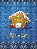 Greeting Card,Gingerbread House,Knitting,Woven,Pattern,Cultures,Brown,Ideas,Icing,Concepts,stockinet,Christmas Ornament,Holiday,New Year's Eve,Fancy Bread,Food,New Year's Day,Christmas,Celebration,Pastry,Greeting,Gingerbread Cookie,Jersey,Sweater,Crochet,Sweet Food,New Year,Baked,Christmas Decoration,Blue,Cabin,Cookie,House,Scandinavian Culture,Textured,Vector,Dessert