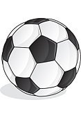 Soccer Ball,Soccer,Ball,Sport,Sports And Fitness,Competition,Leisure Games,White,Black Color,Shadow