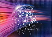 Data,Spotted,Connection,Computer Network,Futuristic,Network Server,Multi Colored,Wireless Technology,Space,Vector,Technology,Backgrounds,Abstract,Information Medium,Internet,The Media
