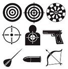 Bullet,Archery,Sport,Indoors,Hobbies,Vector,Circle,Outdoors,Aiming,Backgrounds,Computer Graphic,firepower,Gun,Weapon,Hitting