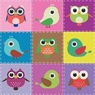 Cartoon,Bird,Vector,Owl,Wing,Woodpecker,Feather,Domestic Animals,Animal,Characters,Cute,Ilustration