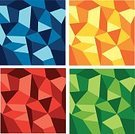 Geometric Shape,Abstract,Backgrounds,Green Color,Yellow Background,Contrasts,Green Background,Monochrome,Red Background,Blue Background,Red,Angle,Facet,Acute Angle,Obtuse Angle,Yellow,Blue