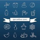 Symbol,Sign,Computer Graphic,Vector,Ilustration,Outline,Collection,Drop,Towel,Food,Arranging,Watering,Yin Yang Symbol,Leaf,Candle,Cucumber,Tourist Resort