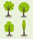 Root,Tree,Woodland,Flat,Design,Life,Environment,Springtime,Computer Graphic,Green Color,Summer,Leaf,Simplicity,Clip Art,Plant,Tree Trunk,Nature,Set,Biology,Park - Man Made Space,Abstract,Biodiversity,Bush,Collection,Stem,Backgrounds,Ilustration,Isolated,Art,Vector,Forest,Symbol,Computer Icon,Branch,Growth