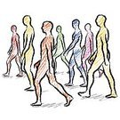 Silhouette,Vector,Ilustration,Togetherness,Action,Development,Freehand Drawing,Drawing - Art Product,Activity,Group Of People,People,Walking,Crowd,Motion,Large Group Of People,proceed