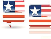 Liberia,Flag,Liberian Flag,Shiny,Symbol,Speech Bubble,Interface Icons,star and stripe,Illustrations And Vector Art,Design Element,Travel Locations,Landmarks,Computer Icon,Vector Icons,Vector,Africa,Sign,National Flag