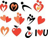 Heart Shape,Sign,Love,Apple - Fruit,Symbol,Dating,Sparse,Shape,Togetherness,Computer Icon,Vector,Simplicity,Bonding,Romance,Flirting,Set,Creativity,Design,Red,Human Representation,Color Image,Ilustration,No People,Collection,Day,Female Likeness,Allegory Painting,Male Likeness,Concepts And Ideas