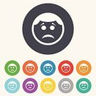 Shape,Creativity,Token,Label,Symbol,Vector,Badge,Blue,Red,Yellow,Geometric Shape,Computer Graphic,Sign,Eyebrow,Ilustration,Human Face,Application Software,Multi Colored,template,Cute,Circle,Hairstyle,Emotion,People,Sadness,Backgrounds