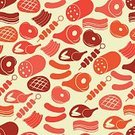 Kebab,Pattern,Ilustration,Symbol,Salami,Food,Roast Beef,Chop,Veal,Rib,Ham,Animal Leg,Chicken - Bird,Variation,Beige,Beef,Pink Color,Seamless,Picnic,Wallpaper Pattern,Bratwurst,Meat,Steak,Food State,Vector,Sirloin Steak,Barbecue,Sausage,Backgrounds,Slice,Red,Silhouette,Turkey - Bird,Brown