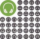 Headphones,Symbol,Vector,Listening,Microphone,Ilustration,Equipment,Technology