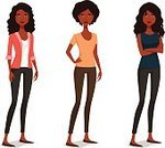 People,Clothing,Confidence,Happiness,Individuality,Cool Attitude,Cheerful,African-American Ethnicity,Modern,Ethnicity,Beauty,Teenager,Adult,Young Adult,Cut Out,Cute,Arms Crossed,Illustration,Cartoon,Afro,Females,Women,Teenage Girls,Vector,Characters,Fashion,African Ethnicity,Beautiful People,Fashionable