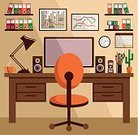 Office Interior,Desk,Table,Backgrounds,Telephone,Pencil,Vector,Technology,Calendar,Document,Business,Clock,Equipment,Graph,Marketing