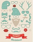 Knitting,Santa Claus,Collection,Christmas,Eyeglasses,Funky,Stitch,Textile,Retro Revival,Symbol,Fashion,Old-fashioned,Sweater,Craft,Mustache,Isolated,Human Lips,Party - Social Event,Pipe,Wool,Elf,white beard,Vector,New Year,Ilustration,Decoration,Greeting,Blue,Greeting Card,Hat,Horned,Holiday,Ribbon,Pattern,Print,Backgrounds,Beard,Shape,Heat - Temperature,Textured,Ornate,Deer