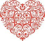 Heart Shape,Lace - Textile,Christmas,Craft Product,Ornate,Invitation,Love,Valentine's Day - Holiday,Art Deco,Floral Pattern,Silhouette,Vector,Symbol,Anniversary,Swirl,Decoration,Red,Christmas Decoration,Elegance,Isolated,Save The Date,Style,Holidays And Celebrations,Valentine's Day,Isolated Objects,Weddings