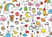 Doodle,Animal,Domestic Cat,Pattern,Cloud - Sky,Planet - Space,Bird,Crayon,Sheep,Teapot,Umbrella,Toy,Mouse,Flower,Moon,Duck,Innocence,Snail,Owl,Little Boys,Whale,Wallpaper Pattern,Car,Repetition,Nature,Dog,Fruit,Sun,Tea - Hot Drink,Elephant,Vector,Drawing - Art Product,Rainbow,Clock,Childishness,Heart Shape,Star - Space,Child,Cute,Bicycle,Bear,Butterfly - Insect,Fox,Ilustration,Color Image,Seamless,Little Girls