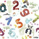 Mountain Lion,Mathematics,Cute,Number,Asia,Wallpaper Pattern,Backgrounds,Rhinoceros,Fox,Number 2,Four Objects,Three Objects,Caiman,Number 1,Tiger,Symbol,Number 9,Cartoon,Counting,Dragon,Solid,Number 5,Fun,Goat,Vector,Number 8,Red,Flying,Decor,Orangutan,Panda,Education,Learning,Childhood,Ilustration,Seamless,Pattern,Child,Zero,Number 7,Bamboo,Flat,Water Buffalo,Set,Komodo Dragon,Number 6