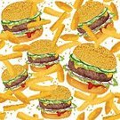 Fast Food Restaurant,Pattern,French Fries,Hamburger,Plate,Burger,Book Cover,Food,Seed,Backgrounds,Seamless,Wallpaper Pattern,Scrapbook,Paper,Ornate,Wrapping Paper,Speed,Eating,Prepared Potato,Salad,Grilled,Lettuce,Cheese,Sesame,Fat,Beef,Lunch,Unhealthy Eating,Decoration,Abstract,Design,Textile,Cheeseburger,Meat,Ilustration,chees,Bread,Bun,Tomato,Vegetable,Sandwich,Food And Drink,Potato Chip,American Culture,Snack,Vector